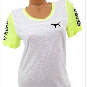 Neon yellow PINK VS T-shirt